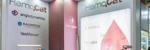 Estande da Hemocat na Feira Hospitalar 2018